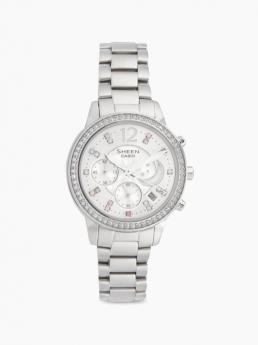 Silver belt watch
